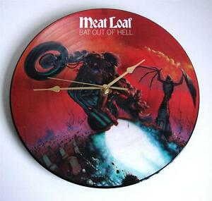 MEATLOAF CLOCK Recycled 12