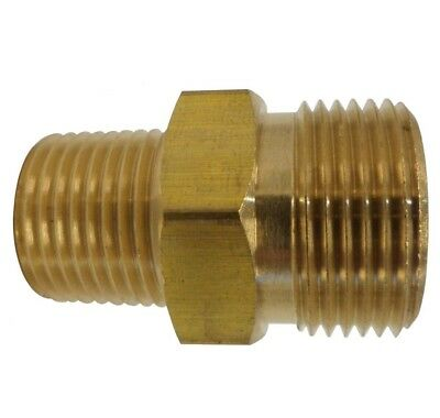 Pressure Washer Fitting Adapter Connector Plug 22mm Male X 38 Male Npt Size