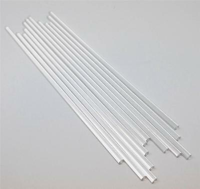 12 Pieces 14 X 12 Clear Acrylic Plexiglass Extruded Rod Free Shipping