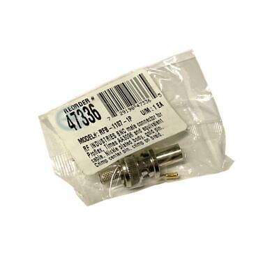 New Rf Industries Rfb-1107-1p Bnc Male Connector 4 Available