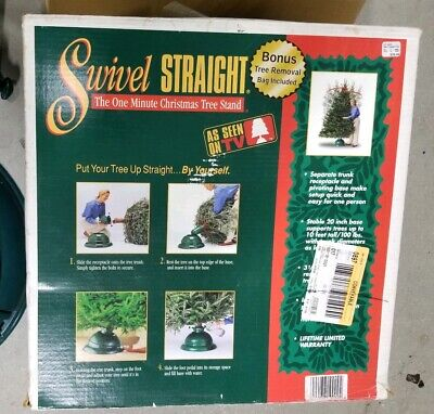 Swivel Straight The Best Tree Stand Adjustable Christmas Tree Stand Green ()