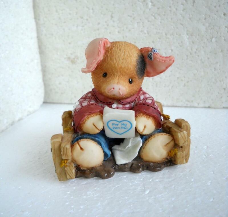 Enesco THIS LITTLE PIGGY Figurine Pen Pals #257605 1996