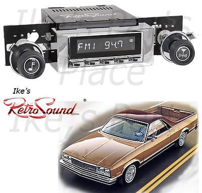 RetroSound 73-88 El Camino RC900c-2 Radio/3.5mm AUX-In for ipod/Push Button