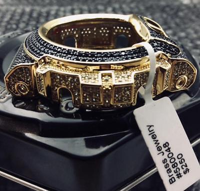 Used, Casio G-Shock DW-6900 DW6600 Black White stone Gold FINISH CUSTOM BEZEL only  for sale  Chula Vista