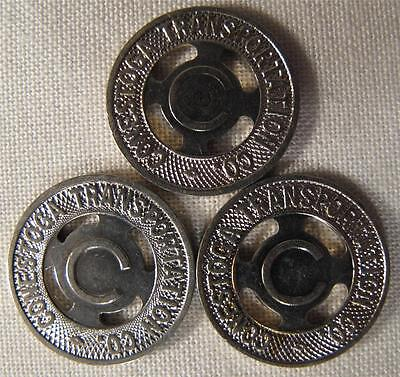 UNCIRCULATED Lancaster Pennsylvania Conestoga Transit Tokens Lot of 3 whotoldya