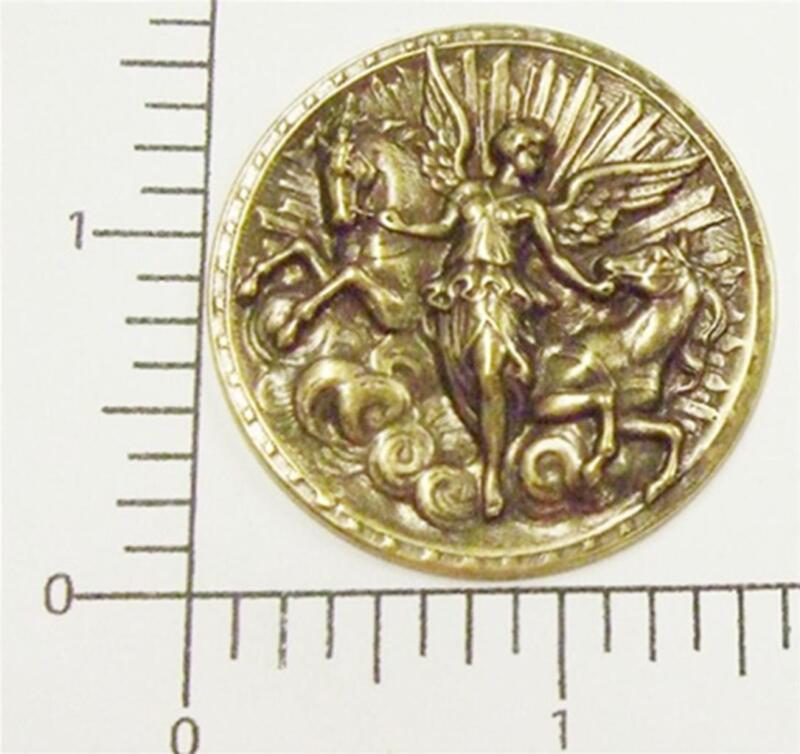 17853         2 Pc  Brass Oxidized Goddess Jewelry Finding  SALE