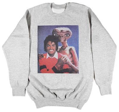 Michael Jackson E.T Grey Sweatshirt Size S-XXL Supreme Vintage Retro Thriller