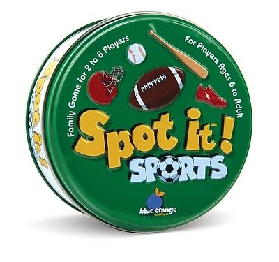 New  Spot It Sports Family Matching Game Educational Fun Ages 6   2 8 Players