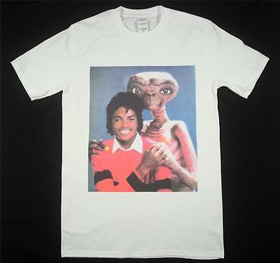 Michael Jackson E.T White T-Shirt Size S-XXXL Supreme Vintage Retro Thriller