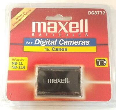 MAXELL DC3777 LITHIUM ION RECHARGEABLE BATTERY FOR CANON REPLACES NB-1L NB1LH (Canon Nb 1lh Rechargeable Battery)