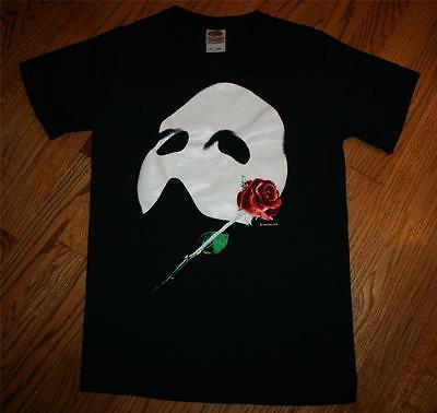 Vintage 1986 Phantom of the Opera Broadway Theater Musical T-Shirt-Men Small-NEW