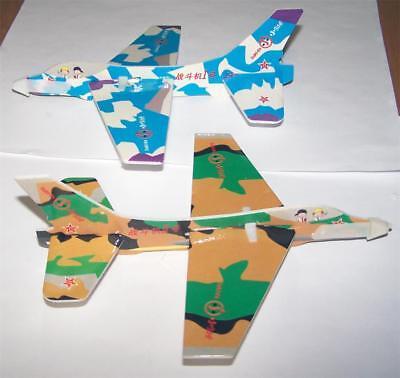 24 NEW STYROFOAM 8 INCH TOY FLYING CAMOUFLAGE GLIDER  PLANES toy airplanes new - Styrofoam Planes