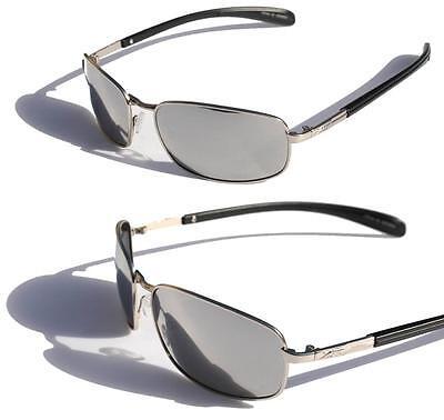 Fishing Sunglasses Silver Mirror Lenses - XS PRO Metal frame Polarized sunglasses silver Mirror Lens fishing anti-glare ..