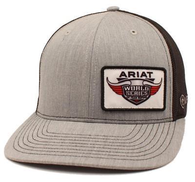 Ariat Mens Hat Baseball Cap Mesh Snap Back Logo World Series Patch A300005606 Serie Mesh Cap
