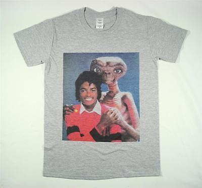 Michael Jackson E.T Grey T-Shirt Size S-XXXL Supreme Vintage Retro Thriller