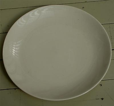 """- Nice Vintage Pure White Ironstone China 11"""" Dinner Plate, VG COND"""