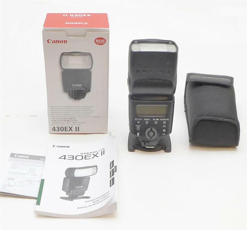 Canon 430EX II TTL Speedlite Flash + Case + Stand + Manual