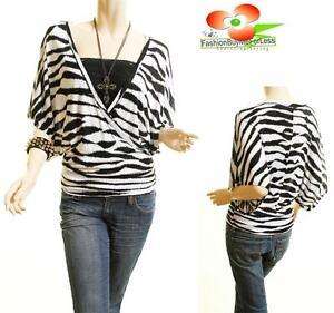Zebra Print Blouses Sale 8