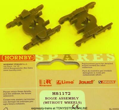hornby international ho spares hs1172 2x bogies (no wheels) hj4007/8/11