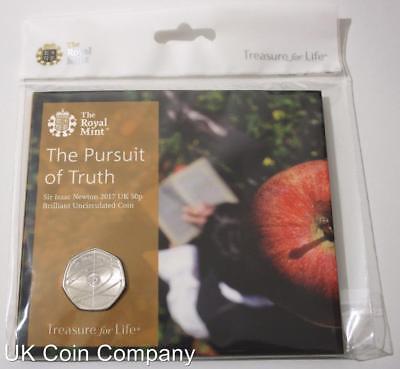 2017 Isaac Newton Brilliant Uncirculated Royal Mint 50p Coin Pack