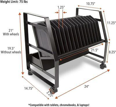 Line Leader 14 Unit Open Charging Cart for Tablets, Chromebooks & More