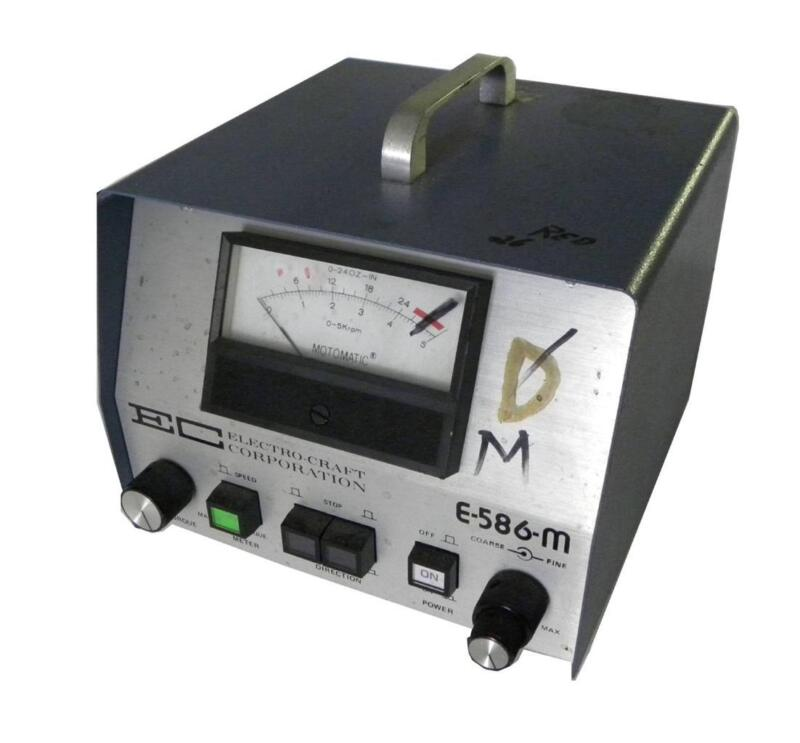 Electro-craft Motomatic Speed Controller Model E-586-m - Sold As Is
