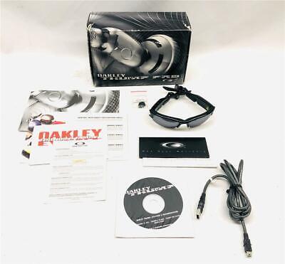 Oakley THUMP Pro 1GB Polished Black/Warm GREY Polarized Music (Sunglasses Music Player)