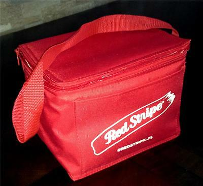 RED STRIPE LAGER JAMAICAN BEER 6 PACK CAN CANVAS COOLER/LUNCH BAG INSULATED NEW