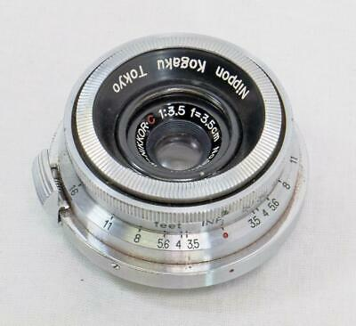 Nikon W-Nikkor.C 3.5cm f/3.5 RF Lens, Made In Occupied Japan - MUST READ! (6996)