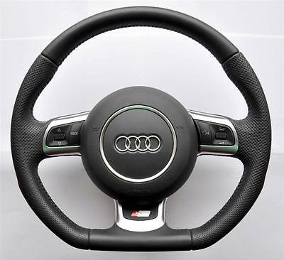 AUDI-S-LINE-A3-A4-A5-A6-TT-Q5-Q7-flat-bottom-Multifunction-steering-wheel-airbag