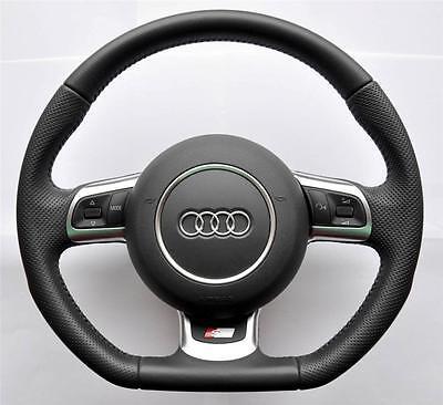 AUDI-S-LINE-A3-A4-A5-A6-TT-Q5-Q7-flat-bottom-Multifunction-steering-wheel-airbag