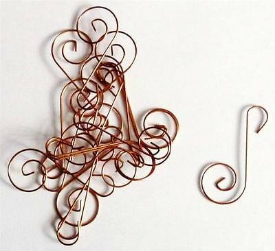 28 Copper Swirled Wire Halloween Christmas Tree Holiday Ornament Hook Hangers