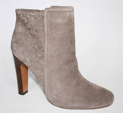 Women's Shoes Authentic Coach HANNI SUEDE Ankle Boots Bootie Heels ...