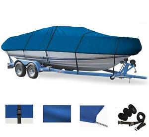 BLUE BOAT COVER FOR CARAVELLE 196 FISH & SKI W/ SWPF 2008-2010