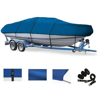 BLUE BOAT COVER FOR HEWESCRAFT-WEST COAST 16 SPORTSMAN O/B 2007-2009