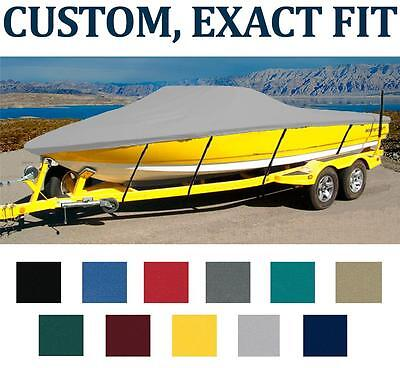 7OZ CUSTOM BOAT COVER MB SPORTS B-52 WIDE BODY 21' W/2-PT COLLAPS TOWER W/SWP 13