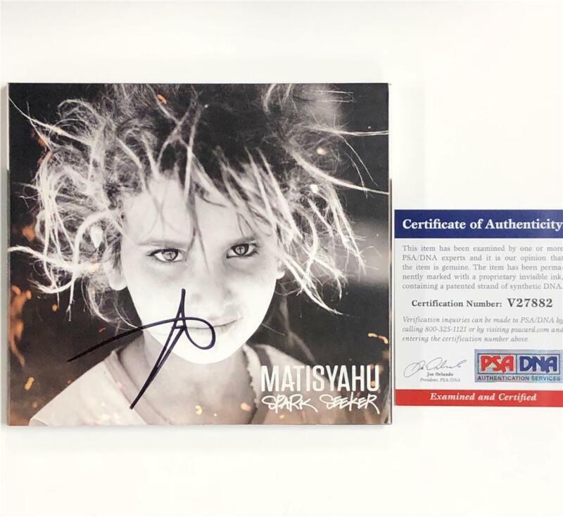 Matisyahu autograph signed Spark Seeker CD album cover PSA/DNA COA