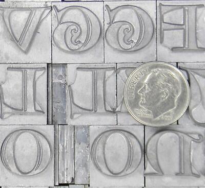 Alphabets Metal Letterpress Print Type  48pt Lombardic Capitals  Ml93 6