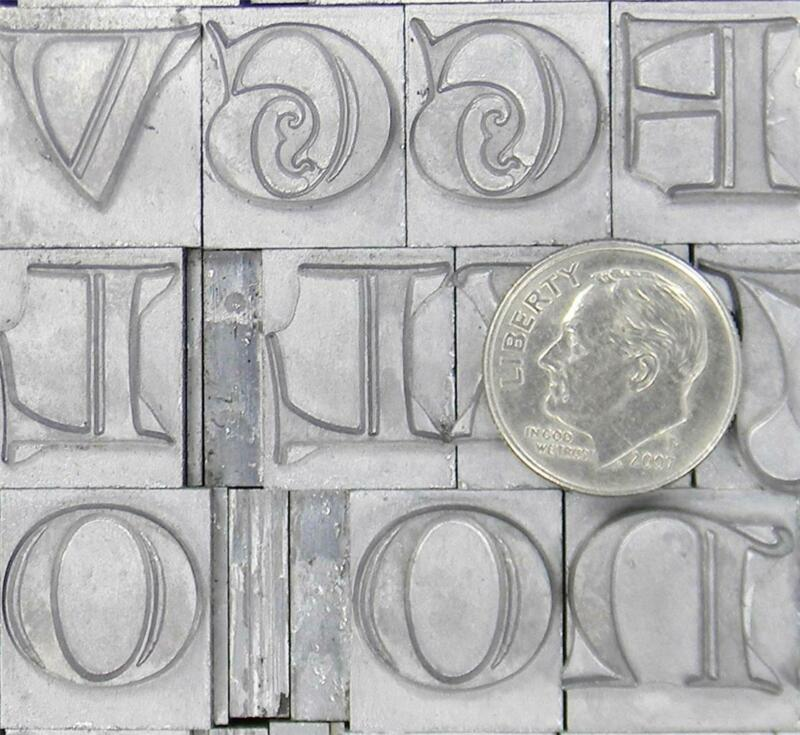 Alphabets Metal Letterpress Print Type   48pt Lombardic Capitals    ML93  6#