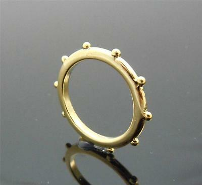 Quality Simple Rosary Ring in Gold tone US6/GB M  Diam.16.51mm