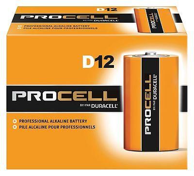 Duracell D Standard Battery, Procell, Alkaline, PK12 - PC1300