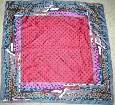 Vintage Scarf Styles -1920s to 1960s Beautiful Vintage Totes Scarf Multi Color Dots, 31