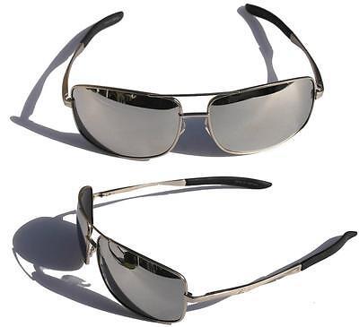 Fishing Sunglasses Silver Mirror Lenses - XS PRO Metal frame Polarized sunglasses silver Mirror Lens fishing golfing ski