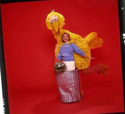 241W DINAH SHORE BIG BIRD TV SESAME ST Harry Langdon Transparency w/rights