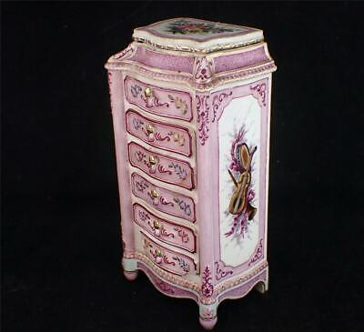 Rare Vintage 19th century French Faience Inkwell in Rouen style