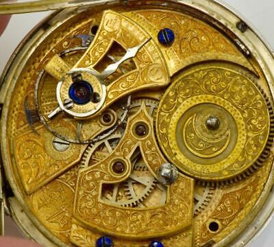Qing dynastie chinois duplex guinand argent poche watch.fancy Émail cadran 掛表 挂表