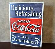 Coca Cola Soda Fountain Sign