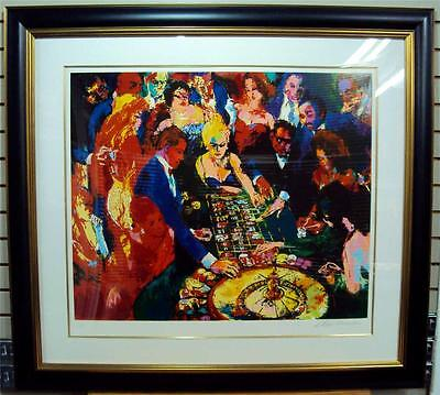 """ROULETTE II"" by LeRoy NEIMAN - BEAUTIFULLY FRAMED LE 57/250 SERIGRAPH - MINT!"