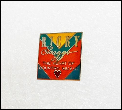 Ricky Skaggs The Heart Of Country Music Vintage Pin Pinback Badge