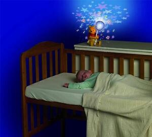 Winnie The Pooh Balloon Lightshow Baby Cot Mobile Star Projector Night Light New